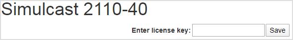 2110-40 module, unlicensed